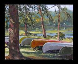 Canoes at rest at Mt. Gretna