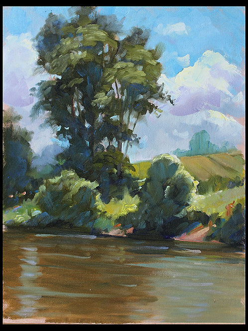 "Swatara Creek - Original Oil, 9""x12"""
