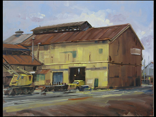 "Steelton Steelmill - Original Oil, 12""x16"""
