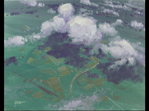 "Clouds #1- Original Oil, 9""x12"""