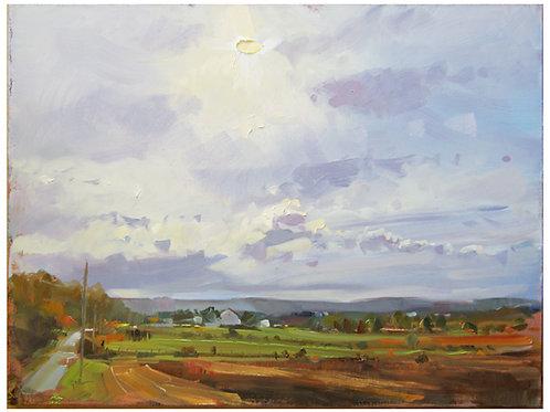 "Early Evening Sky - Original Oil, 11""x14"""