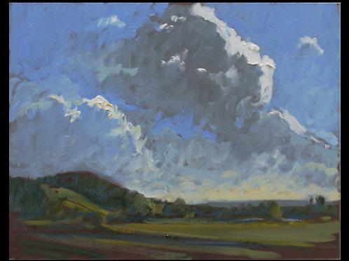 """Rolling Clouds - Original Oil, 9""""x12"""""""