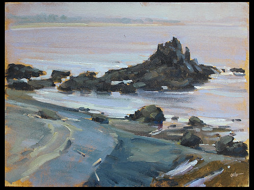 "Pacific Coast - Original Oil, 9""x12"""