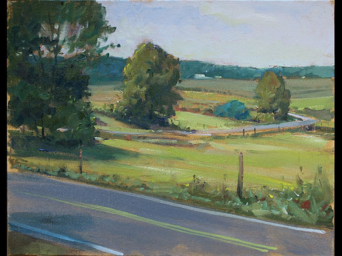 "Pennsylvania Country Road - Original Oil, 11""x14"""