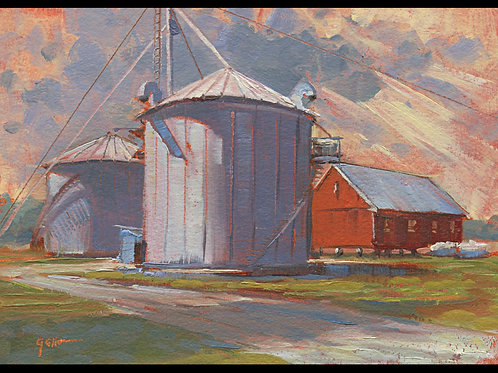"Easton Farm Small Works - Original Oil, Approx. 5""x7"""