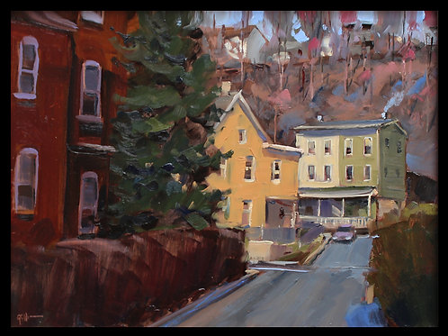 "Steelton Street - Original Oil, 9""x12"""