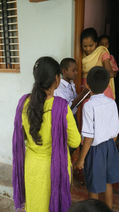 Students Conducting Survey