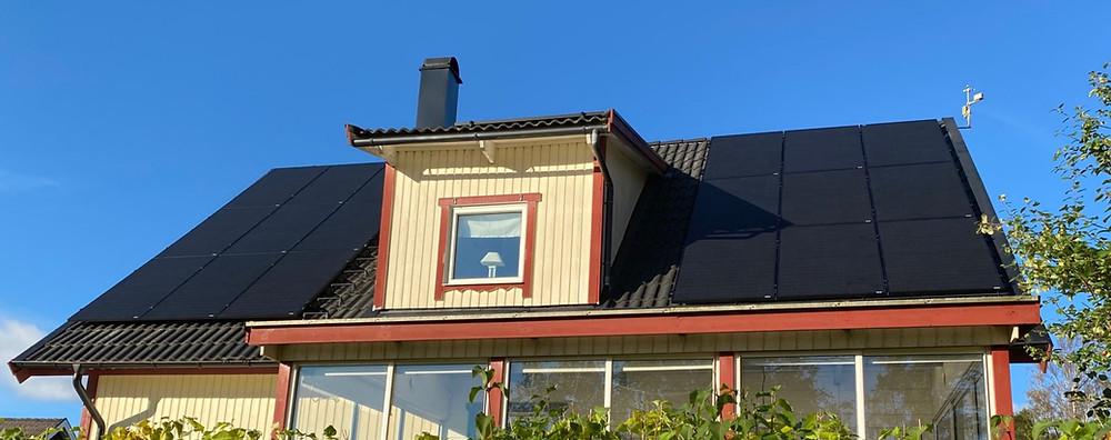 installera solpaneler villa Uddevalla