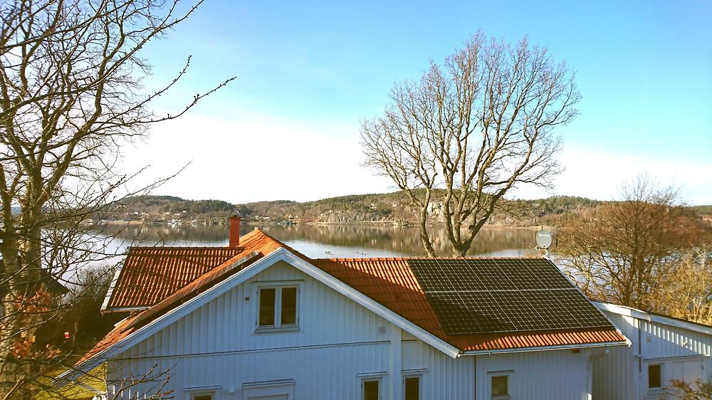Villa som är installerad med solceller