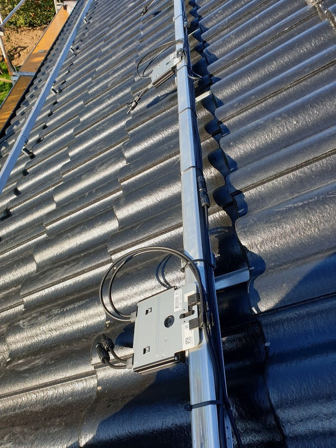Solaredge optimerare monterade på esdec