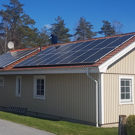 45st Trina solpaneler installerade på villa  i Rabbalshede