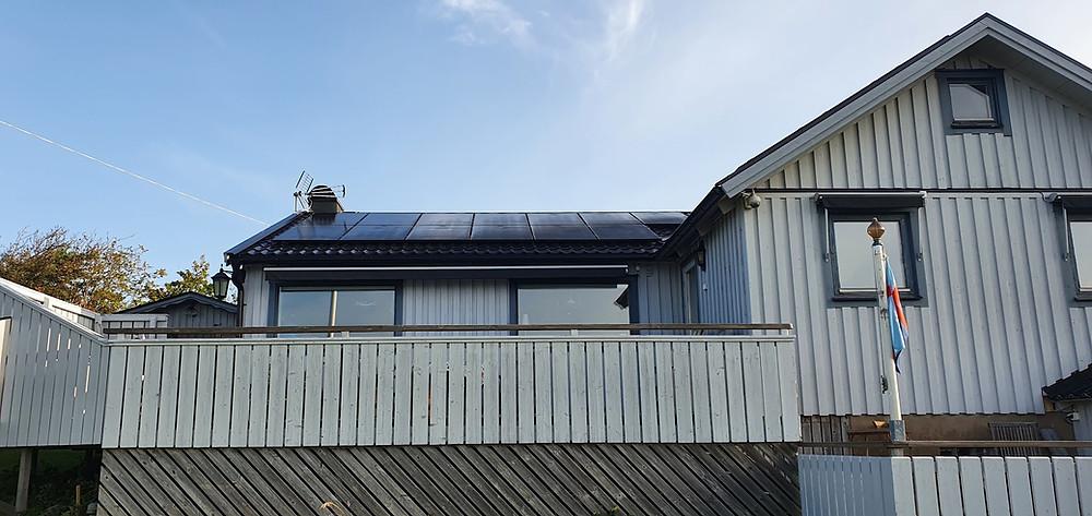 installera solpaneler villa