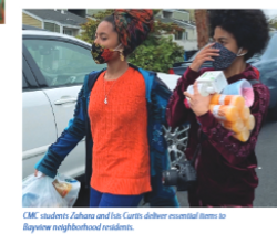 Zahara and Isis delivering groceries