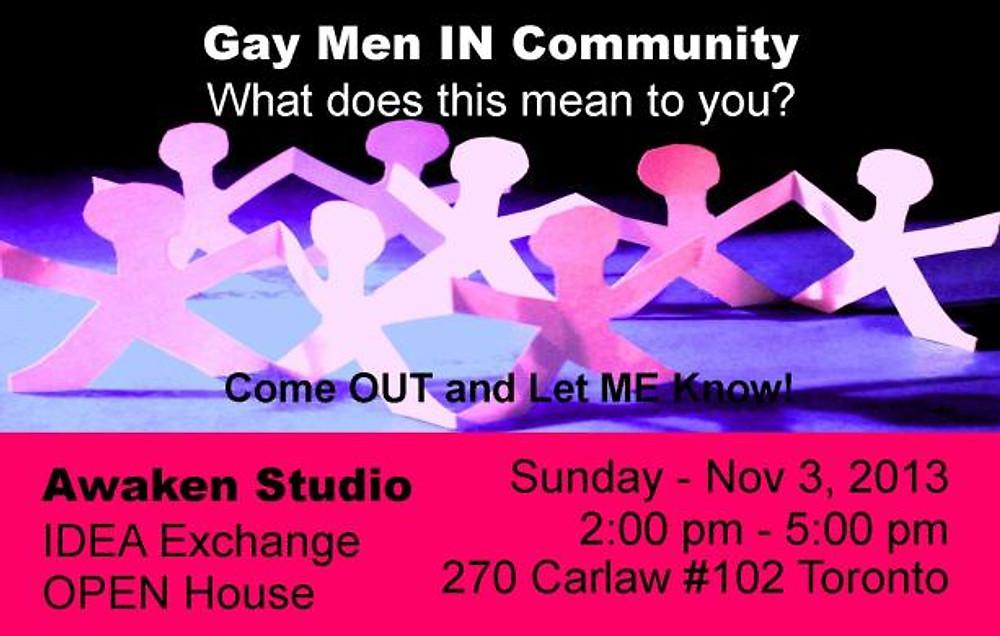 GAY Men in Community - Awaken Studio Toronto Ontario Canada www.phillipcoupal.ca