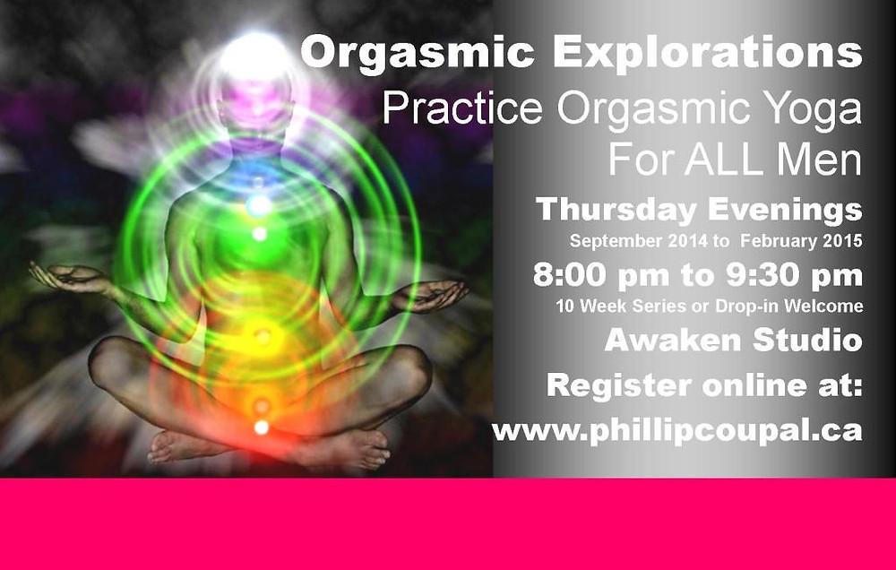 Orgasmic Yoga at the Awaken Studio Toronto http://www.phillipcoupal.ca/Awaken-Studio-Practice-Orgasmic-Yoga-for-Men