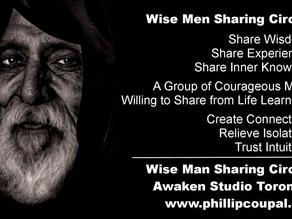 Wise Men Sharing  – a Wisdom Circle for ALL Men at the Awaken Studio Toronto