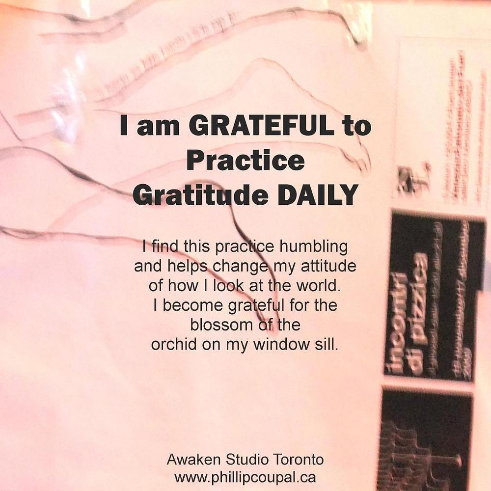 Gratitude Day 41 at the Awaken Studio Toronto http://www.awakenstudiotoronto.com