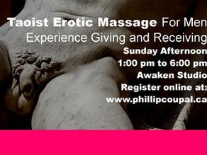 Men 4 Men Touch Exchange – Erotic Touch with Taoist Massage at the Awaken Studio Toronto