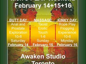 Men's EROTIC PLAY Weekend – Awaken Studio Toronto -♥- Juicy Heart