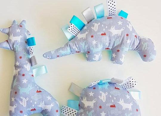 חבילת בובות שועל - אפור תכלת