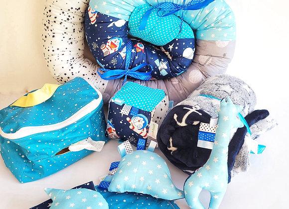 חבילת מוש חתולים בחלל - כחול תכלת