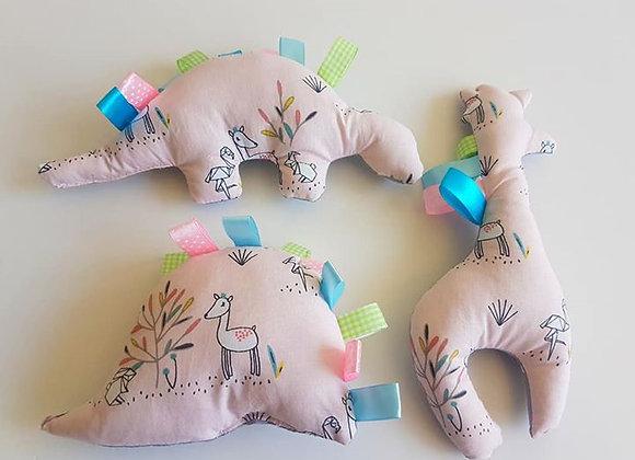 חבילת בובות במבי - אפרסק אפור