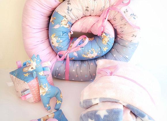 חבילת חיבוק במבי - ורוד כחול
