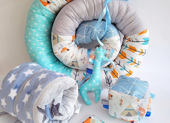 חבילת חיבוק שועלים - כחול לבן אפור