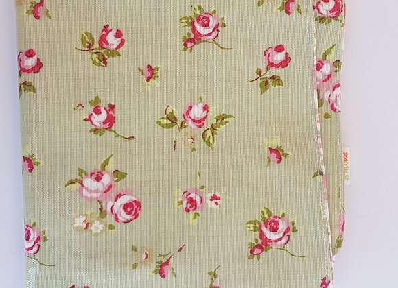 משטח החתלה פרחים פיסטוק-ורוד