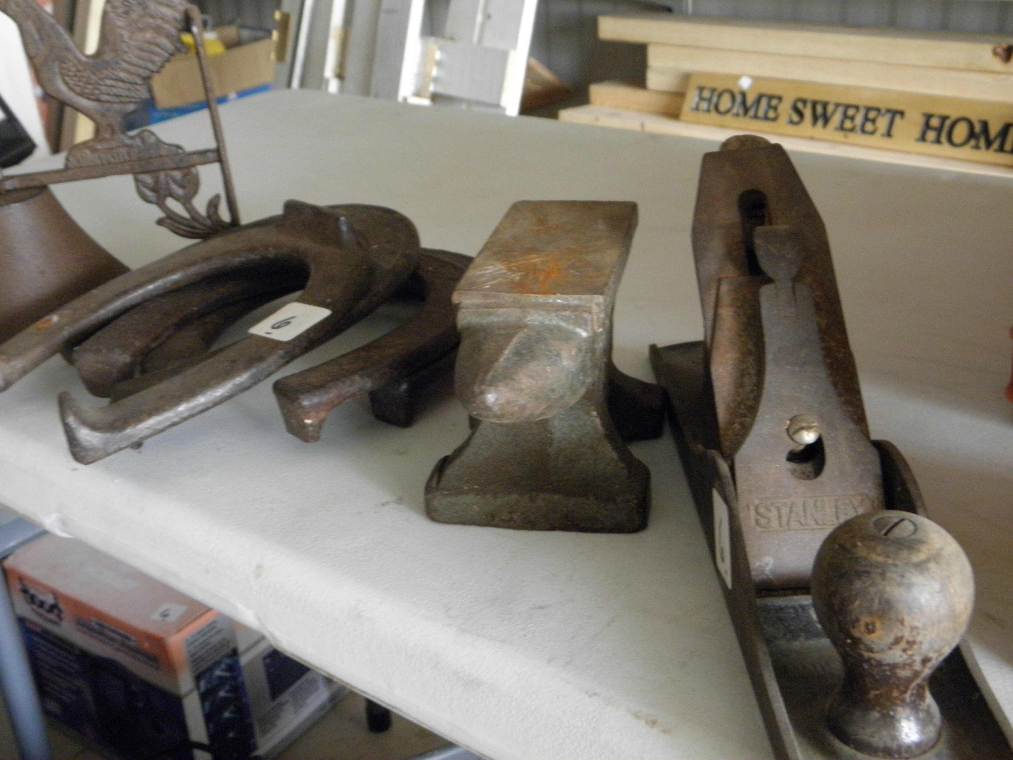 Horse Shoes, Anvil, Hand Planer
