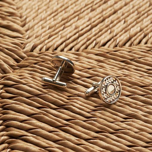 Salalo Amot Palemoro Gold and Silver Weaving The Round Cufflinks
