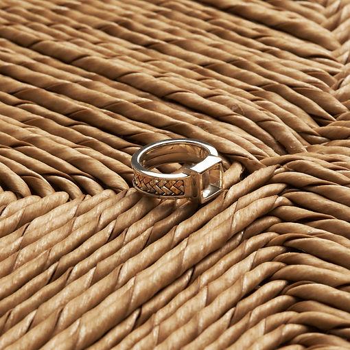 Salalo Amot Palemoro Handwoven Gold and Silver The Round Cufflinks