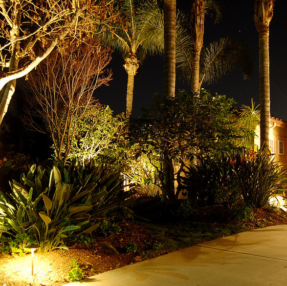 LED Pathway and Area Lighting at Driveway