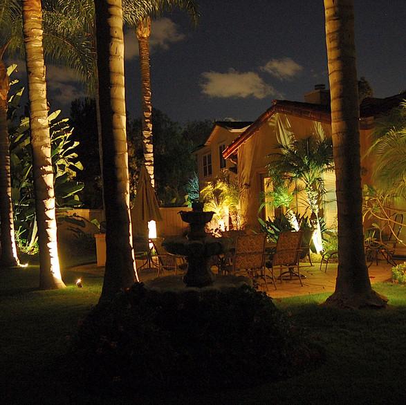 Illumination of Rear Yard Landscape Lighting