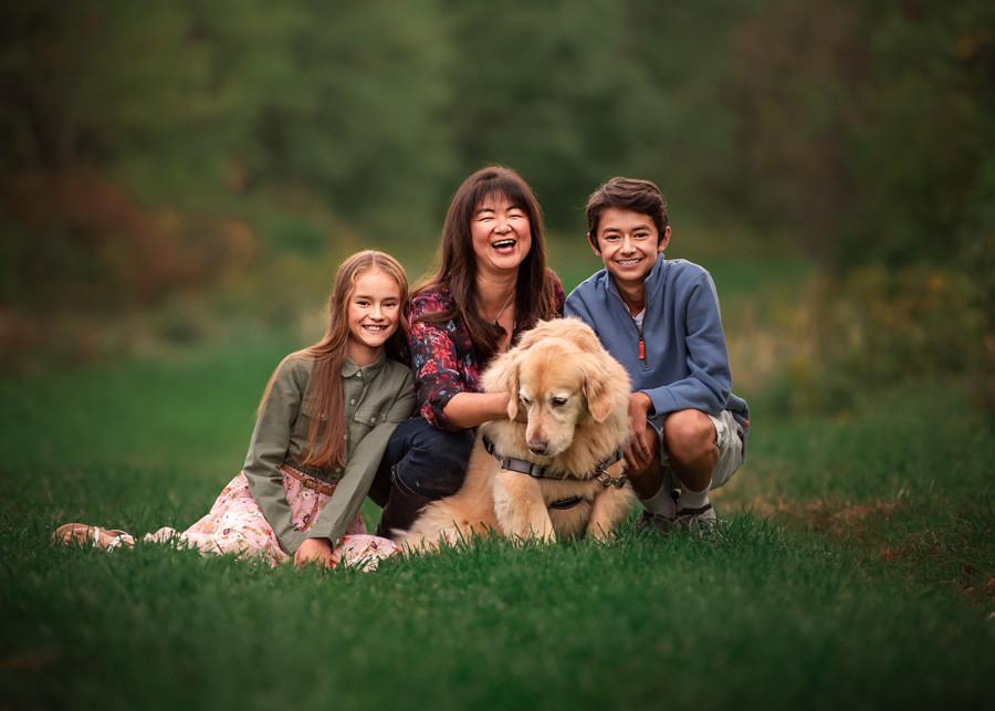 Darien family portrait photographer