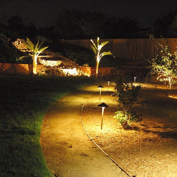 Rear Yard Pathway Lighting