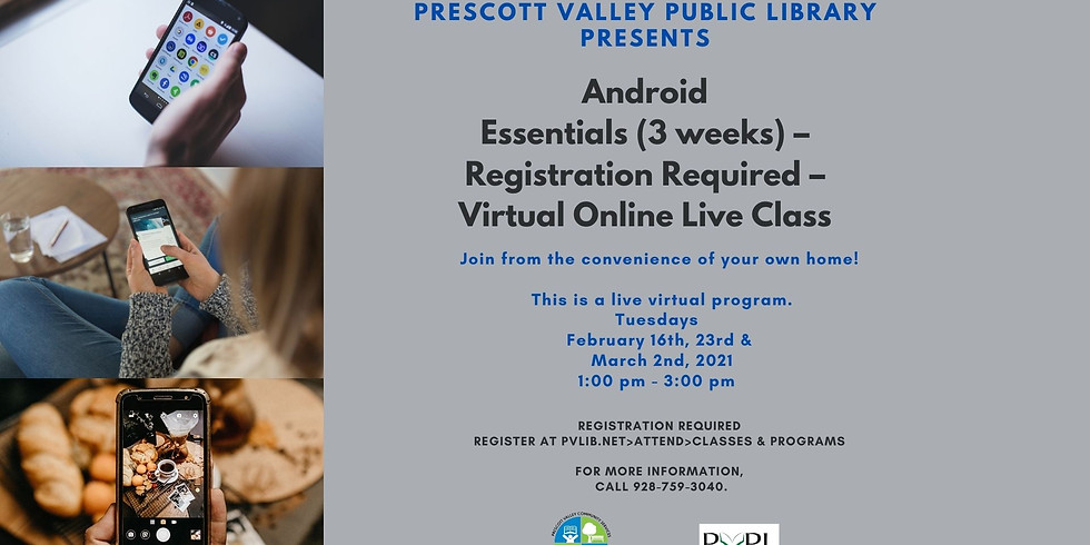 Android Essentials (3 weeks) – Registration Required – Virtual Online Live Class