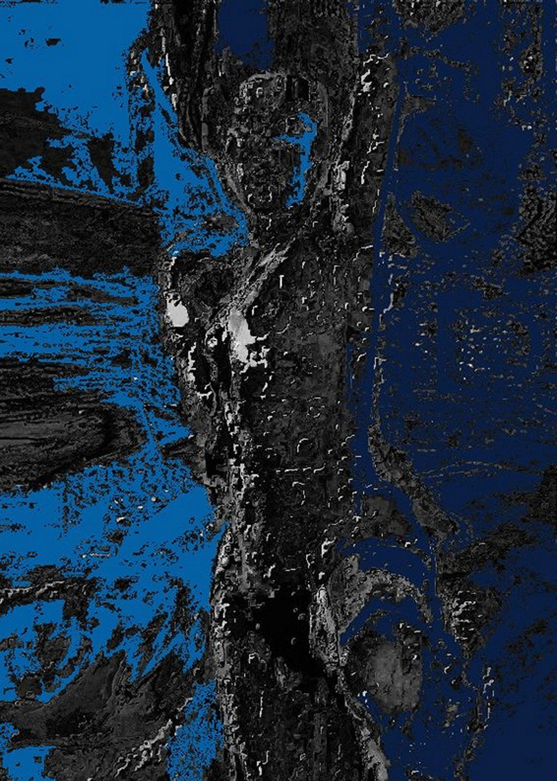 mitternachtsblau   gallerieprint   50x70 cm