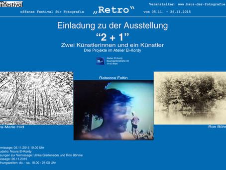 """""""Retro – 2+1"""" fotoausstellung im atelier"""
