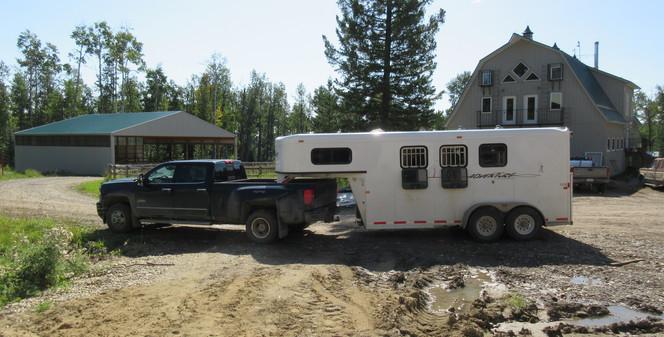 3 horse slant for hauling