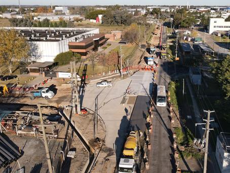 Avanzan las obras en la intersección de las calles 9 y 12