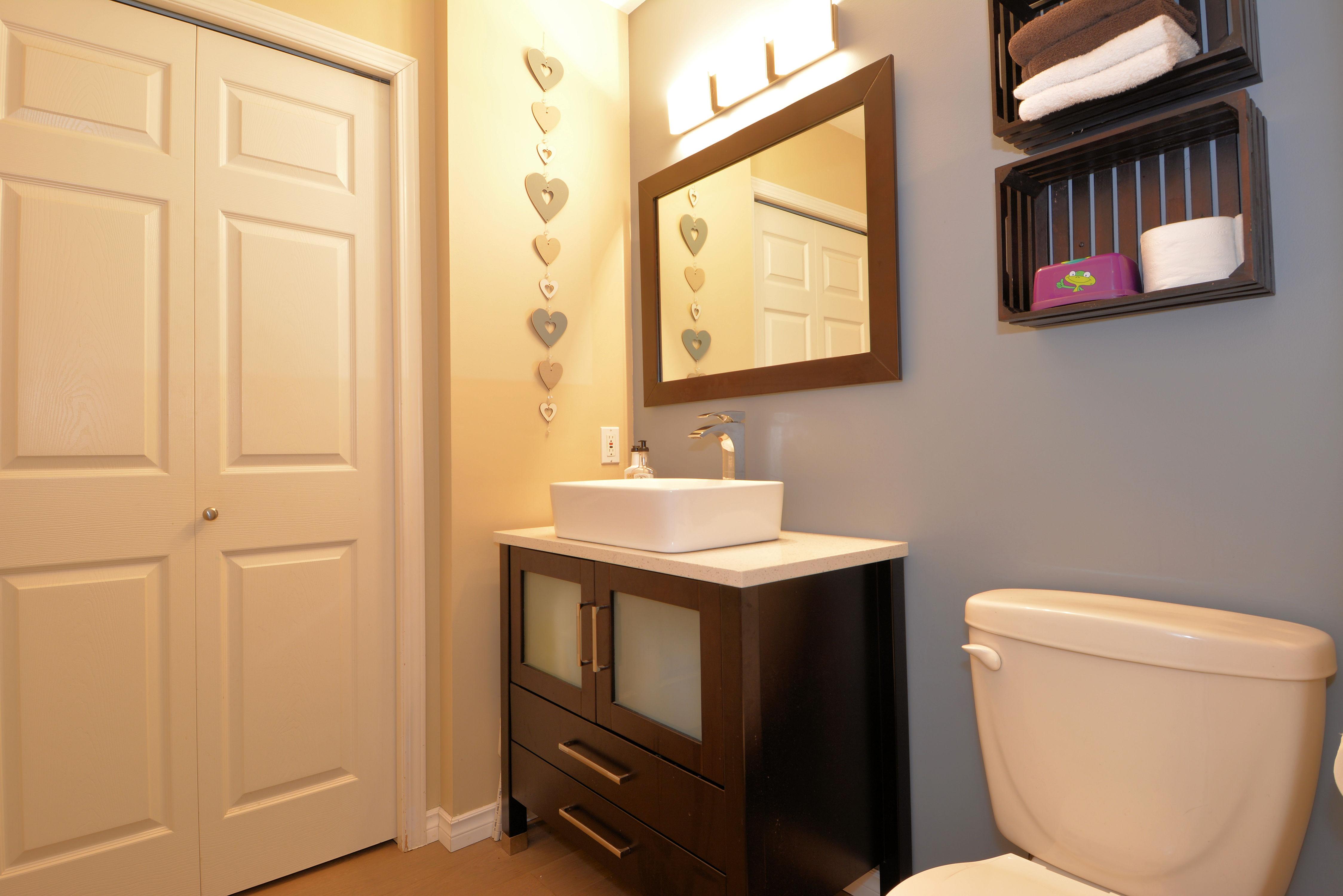 Main Floor Half Bathroom: