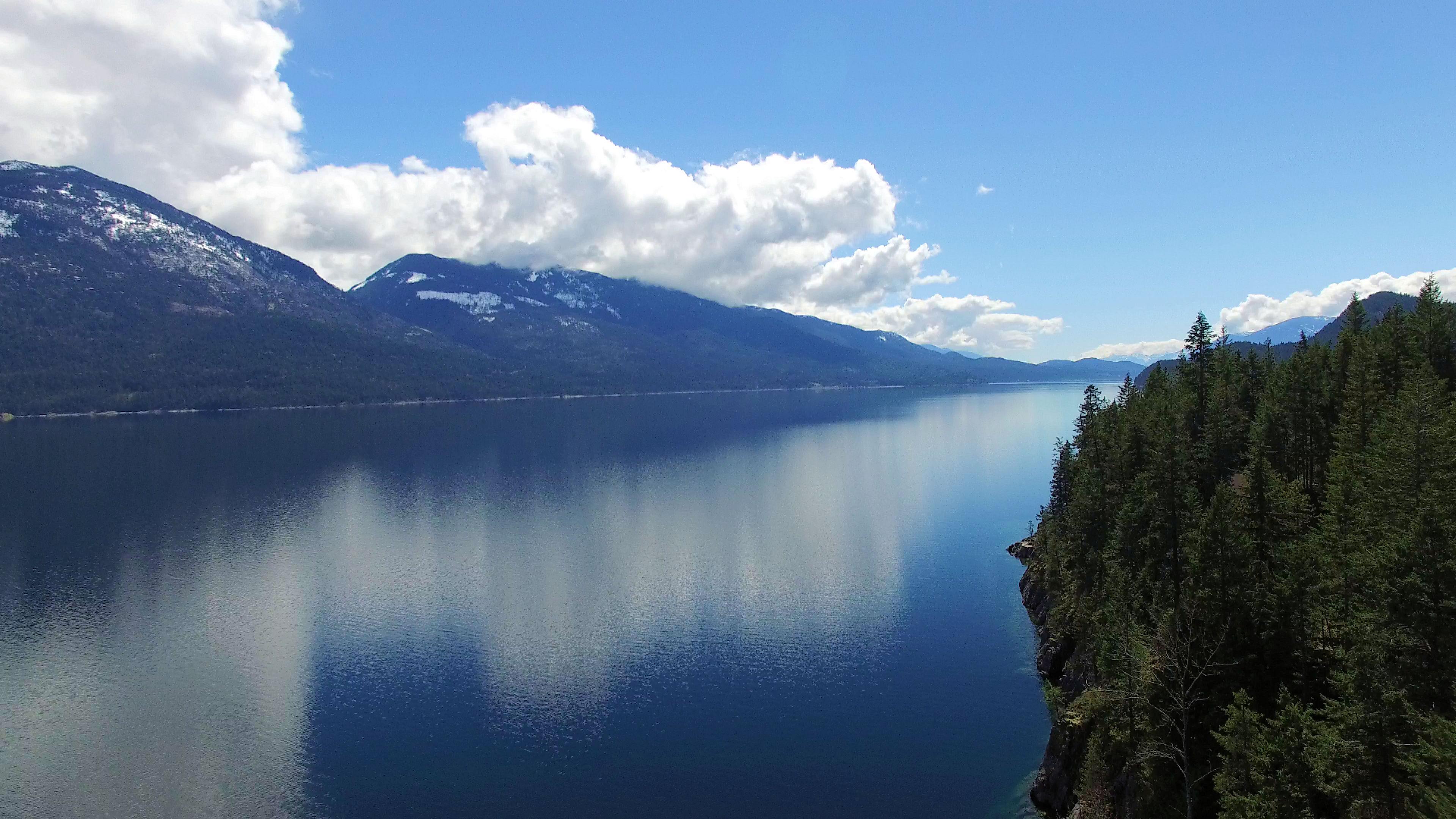 Aerial View of Kootenay Lake