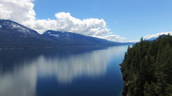 Aerial View of Kootenay Lake