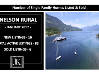 NELSON RURAL:  Single Family Properties Listed & Sold in January