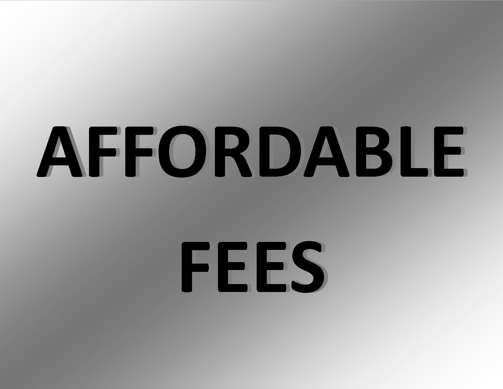 Affordable Fees