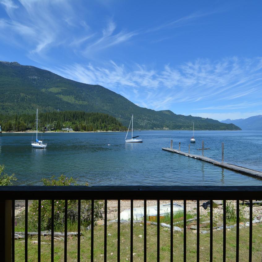 109 Kootenay Lake Road View from Deck