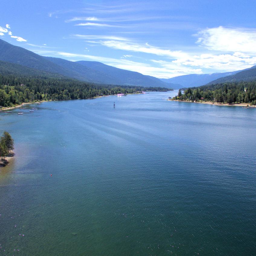 Lot 14 - 229 Kootenay Lake Road Aerial2