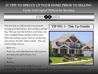 57 Tips To Spruce Up Your Home Prior To Selling - Tip No. 1