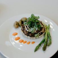 Wild Mushroom Tart - Vegan